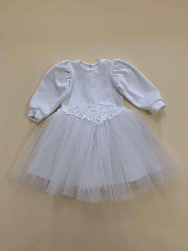 Plüss ruha derekán hímzett tüllel - Trimexbaby babaruha webáruház f235bcb1aa