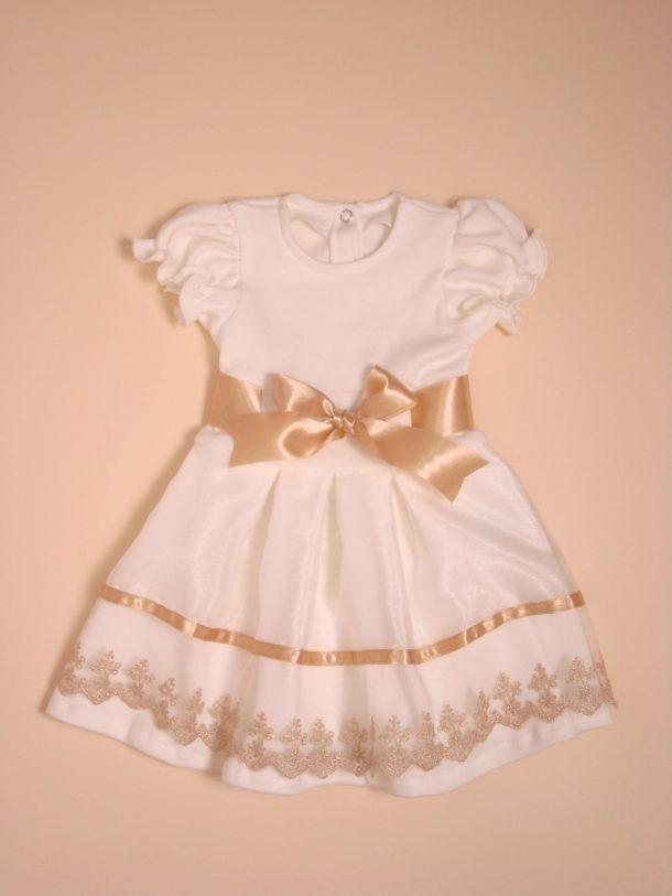 74a41ba7b3 Színes, hímzett tüllel díszített pamut ruha - Trimexbaby babaruha ...